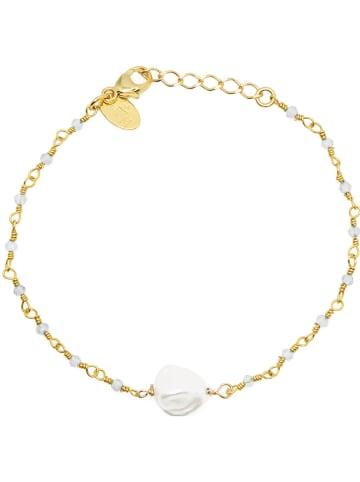 Nilaï Vergold. Armkette mit Perle und Edelsteinen