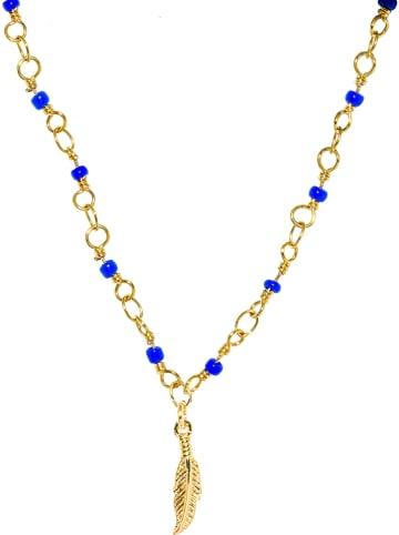 Nilaï Vergold. Halskette mit Schmuckelementen - (L)40 cm