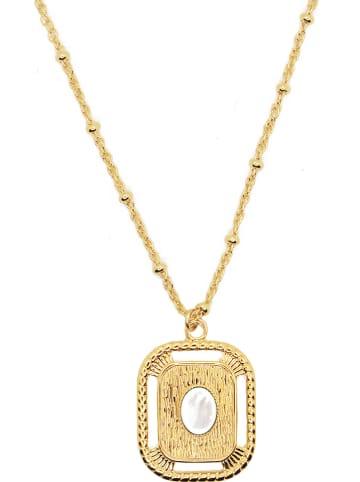 Nilaï Vergold. Halskette mit Anhänger - (L)48 cm