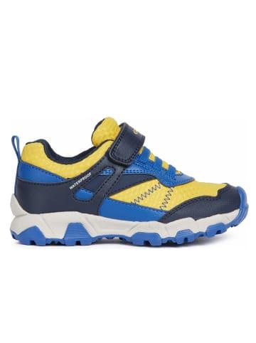"""Geox Sneakers """"Magnetar"""" in Blau/ Gelb"""