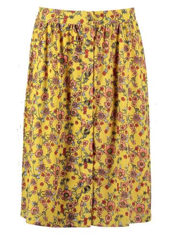 Garcia Spódnica w kolorze żółtym ze wzorem
