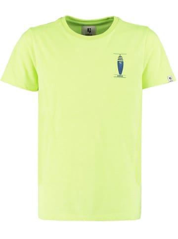 Garcia Koszulka w kolorze jaskrawozielonym