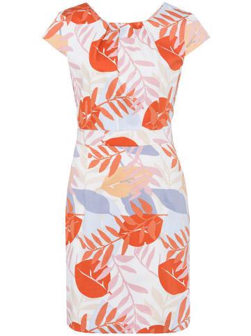 More & More Kleid in Weiß/ Orange