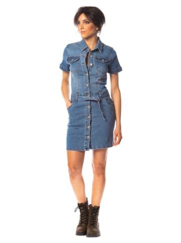 "Saint Germain Paris Sukienka dżisnowa ""Milla"" w kolorze niebieskim"