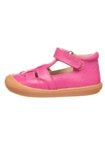 Kmins Leder-Halbsandalen in Pink