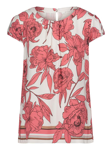 BETTY & CO Bluse in Rosa/ Weiß