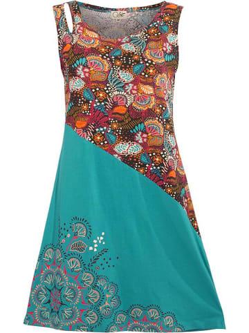 Coline Sukienka w kolorze morskim ze wzorem