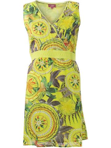 Coline Sukienka w kolorze żółtym ze wzorem