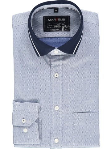 MARVELIS Poloblouse - casual fit - lichtblauw