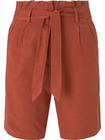 Tom Tailor Szorty - Loose fit - w kolorze jasnobrązowym