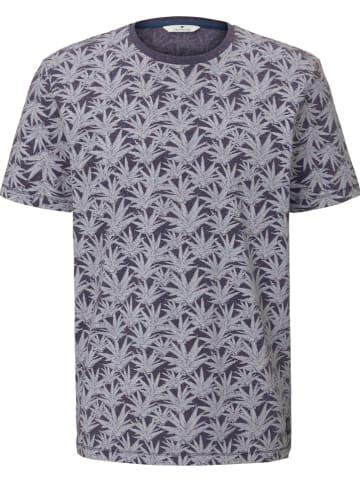 Tom Tailor Shirt in Grau/ Dunkelblau