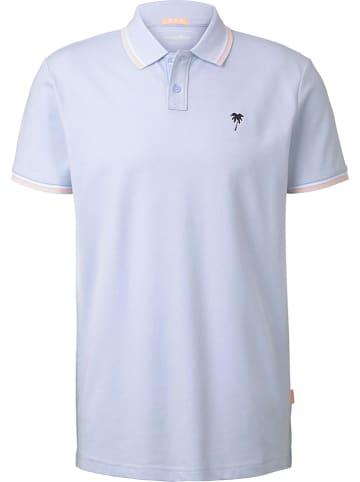 TOM TAILOR Denim Koszulka polo w kolorze błękitnym