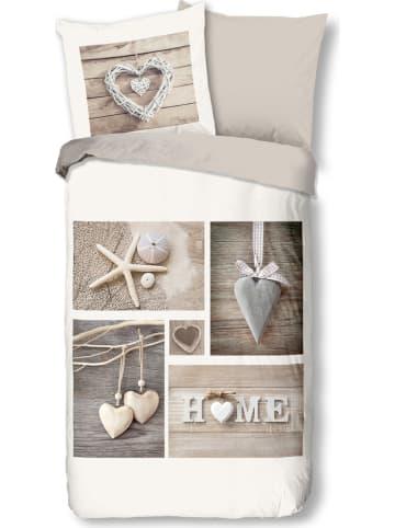 """Pure Microvezel beddengoedset """"Home"""" beige"""