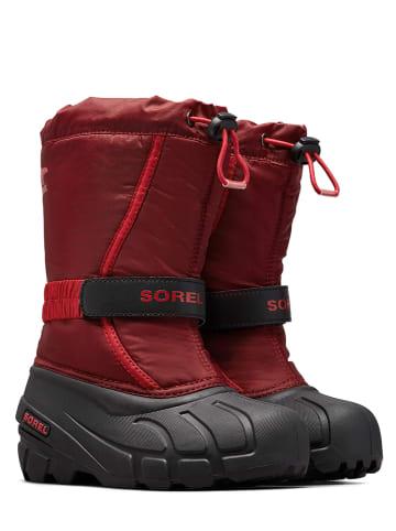"""Sorel Kozaki zimowe """"Flurry"""" w kolorze czerwonym"""
