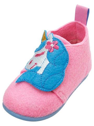 Playshoes Kapcie w kolorze jasnoróżowym