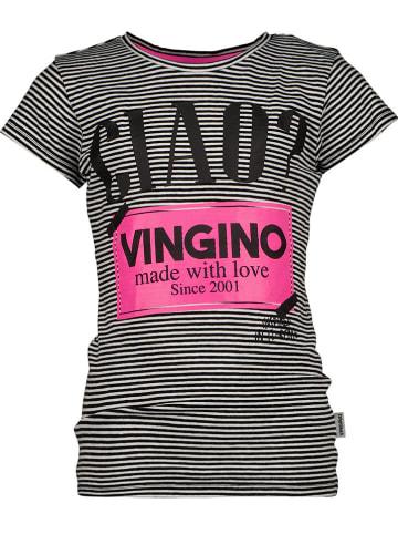 """Vingino Shirt """"Hissa"""" zwart/wit"""