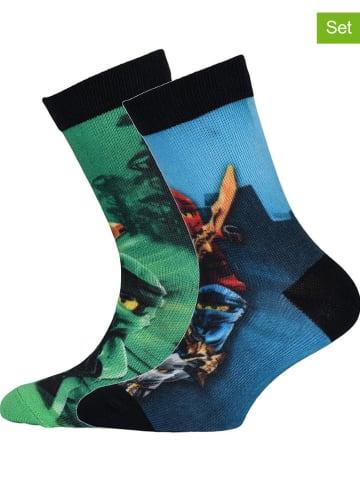 """Legowear Skarpety (2 pary) """"M12010059"""" w kolorze zielonym i niebieskim"""