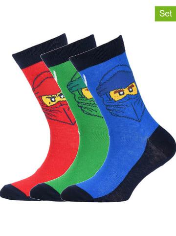 """Legowear Skarpety (2 pary) """"M12010354"""" w kolorze zielonym, niebieskim i czerwonym"""