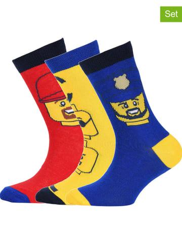 """Legowear Skarpety (3 pary) """"M12010355"""" w kolorze żółtym, czerwonym i niebieskim"""