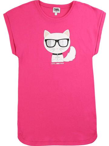 Karl Lagerfeld Kids Jurk roze