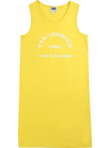 Karl Lagerfeld Kids Sukienka w kolorze żółtym