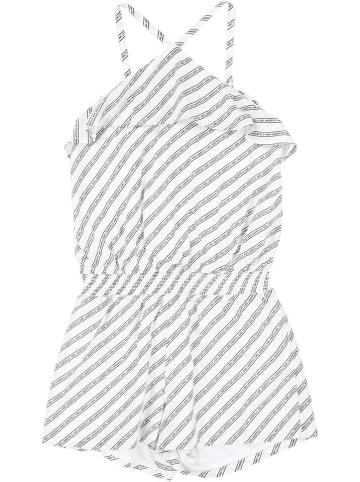 Karl Lagerfeld Kids Jumpsuit wit/zwart