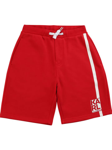 Karl Lagerfeld Kids Sweatbermuda  rood