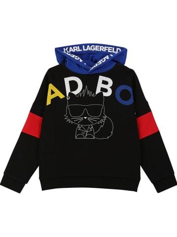Karl Lagerfeld Kids Sweatshirt in Schwarz/ Blau