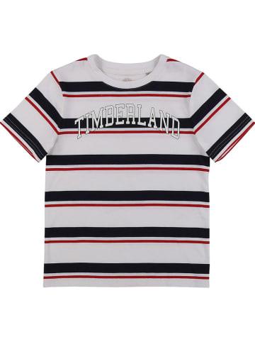 Timberland Koszulka w kolorze biało-granatowo-czerwonym