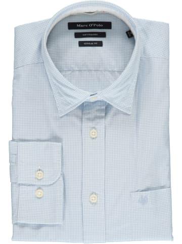 Marc O´Polo Koszula - Regular fit - w kolorze błękitno-białym