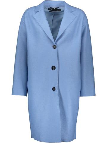 Marc O´Polo Wełniany płaszcz w kolorze błękitnym