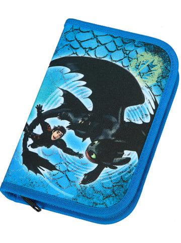 """DRAGONS Schooletui """"Dragons"""" blauw"""