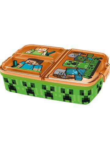 """Minecraft Brotdose """"Minecraft"""" in Grün/ Orange - (B)27,5 x (H)7 x (T)26 cm"""