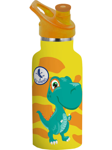 "P:os Drinkfles ""Dino"" geel - 350 ml"