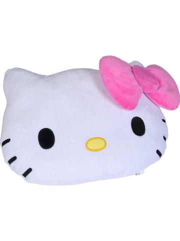 "Hello Kitty Kussen ""Hello Kitty"" wit/roze - (L)35 x (B)25 cm"