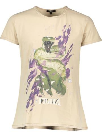 """Tigha Koszulka """"Galaxy Snake"""" w kolorze piaskowym"""