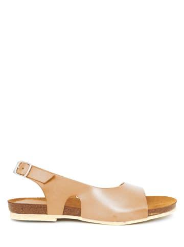 Qualä Leder-Sandalen in Beige