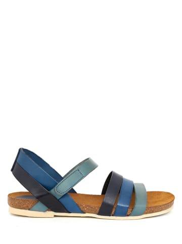 Qualä Leder-Sandalen in Blau/ Dunkelblau