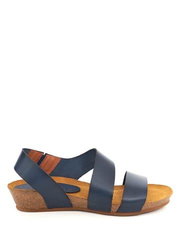 Qualä Leder-Sandaletten in Dunkelblau