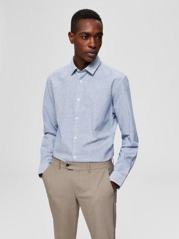 SELECTED HOMME Koszula w kolorze niebiesko-białym