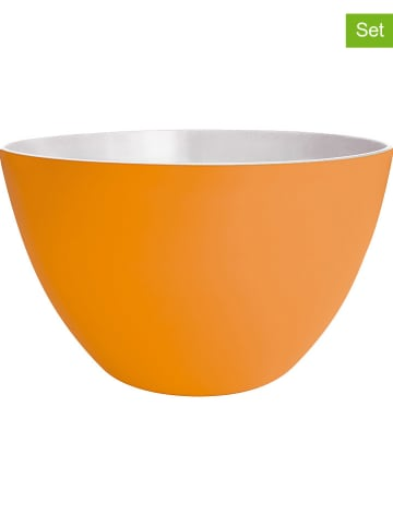 "Zak! designs 2er-Set: Schalen ""2-Tone"" in Orange - (H)8,5 x Ø 14 cm"
