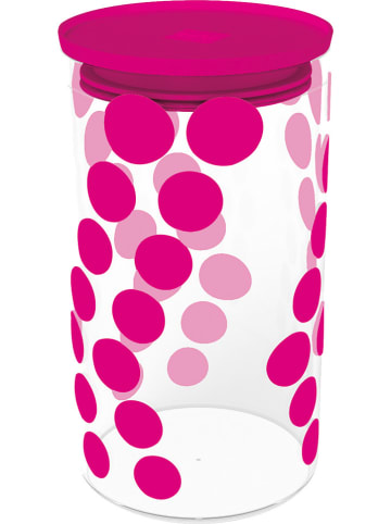 "Zak! designs Vorratsglas ""Dot Dot"" in Pink - 1,1 l"
