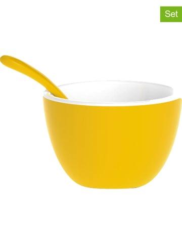 Zak! designs Miski (2 szt.) w kolorze żółtym - wys. 4,5 x Ø 7,5 cm