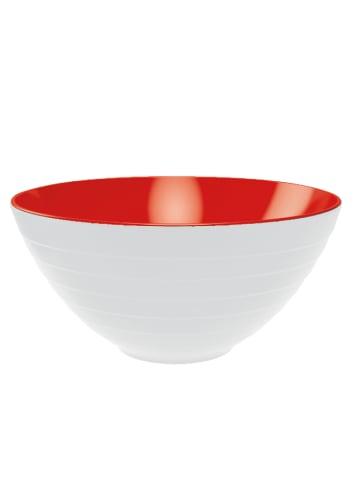 """Zak! designs Salaterka """"Wave"""" w kolorze zielono-białym - wys. 14 x Ø 28 cm"""