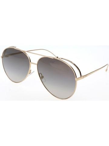 Fendi Dameszonnebril goudkleurig/grijs