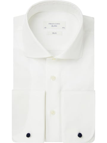 PROFUOMO Blouse - slim fit - wit