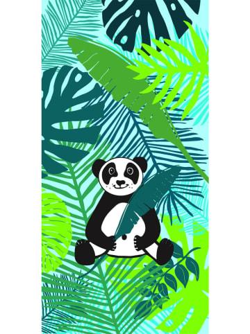 "Le Comptoir de la Plage Strandlaken ""Mozo - Panda"" groen - (L)140 x (B)70 cm"
