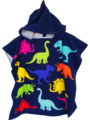"Le Comptoir de la Plage Badponcho ""Kids - Dino"" donkerblauw/meerkleurig - (L)120 x (B)60 cm"