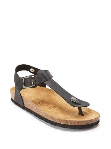 Mandel Skórzane sandały w kolorze czarnym