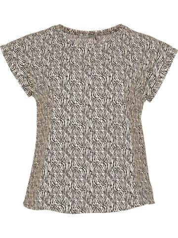 """CadaDIA Shirt """"Pennie"""" in Beige/ Schwarz"""